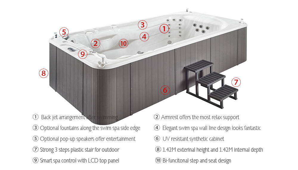 It is time to renew your spa and swim spa ranges,JOYSPA can be your new partner in CHINA.
